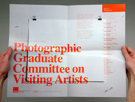 School of the Art Institute of Chicago Photographic Graduate Committee on Visiting Artists